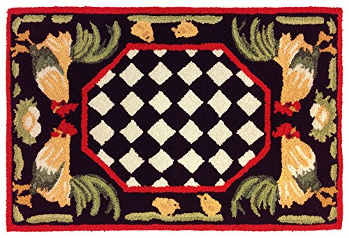 Rooster Black Area Rugs - 9