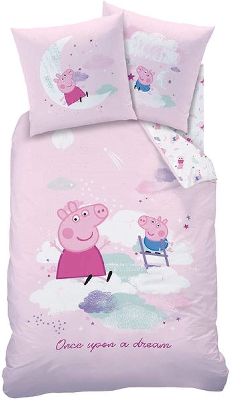 CTI Peppa Pig Dream - Juego de funda nórdica y funda de almohada ...