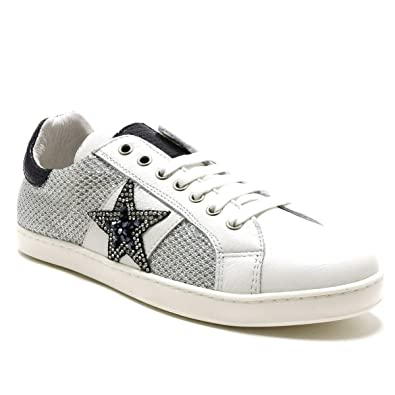 new style 5c8c9 3ab47 Reqins ETI - Stuart Stella - Training Lacet - Argent  Amazon.fr  Chaussures  et Sacs