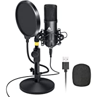 Kit de micrófono USB 192KHZ / 24BIT MAONO AU-A04T Micrófono Condensador Profesional Plug & Play para PC, MAC y PS4…