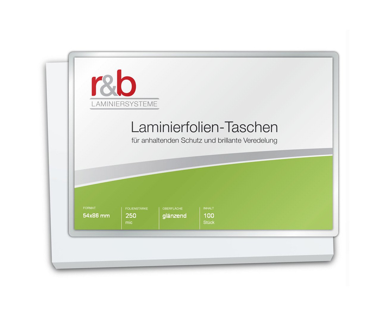 54 x 86 mm r/&b FT-CC-250 Laminierfolien Credit Card 100 St/ück 2 x 250 mic