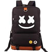Col-92 DJ Marshmello Fans Mochila-mochila de lona para computadora portátil mochila para la escuela, viajes, Negro, Una talla