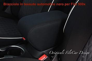 ® FIAT 500 PASSFORM MITTELARMLEHNE 2007 KUNST-LEDER SCHWARZ ARMLEHNE pro.tec