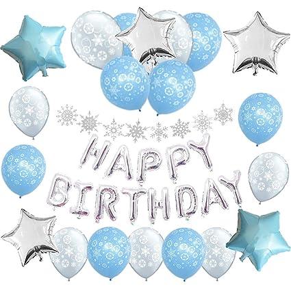 Winter Onederland 1st Birthday Decorations Pack1 Silver Happy Banner8 Glitter