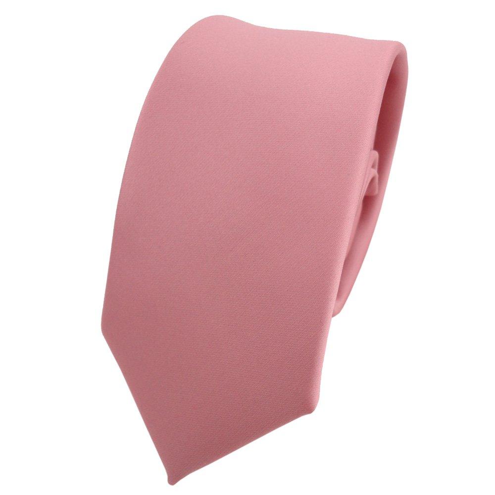 rosa scuro vecchio-rosa uni TigerTie stretta raso cravatta