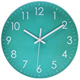 Epy Huts Modern Simple Wall Clock Indoor Non-Ticking Silent Sweep Movement Wall Clock for Office,Bathroom,Livingroom…