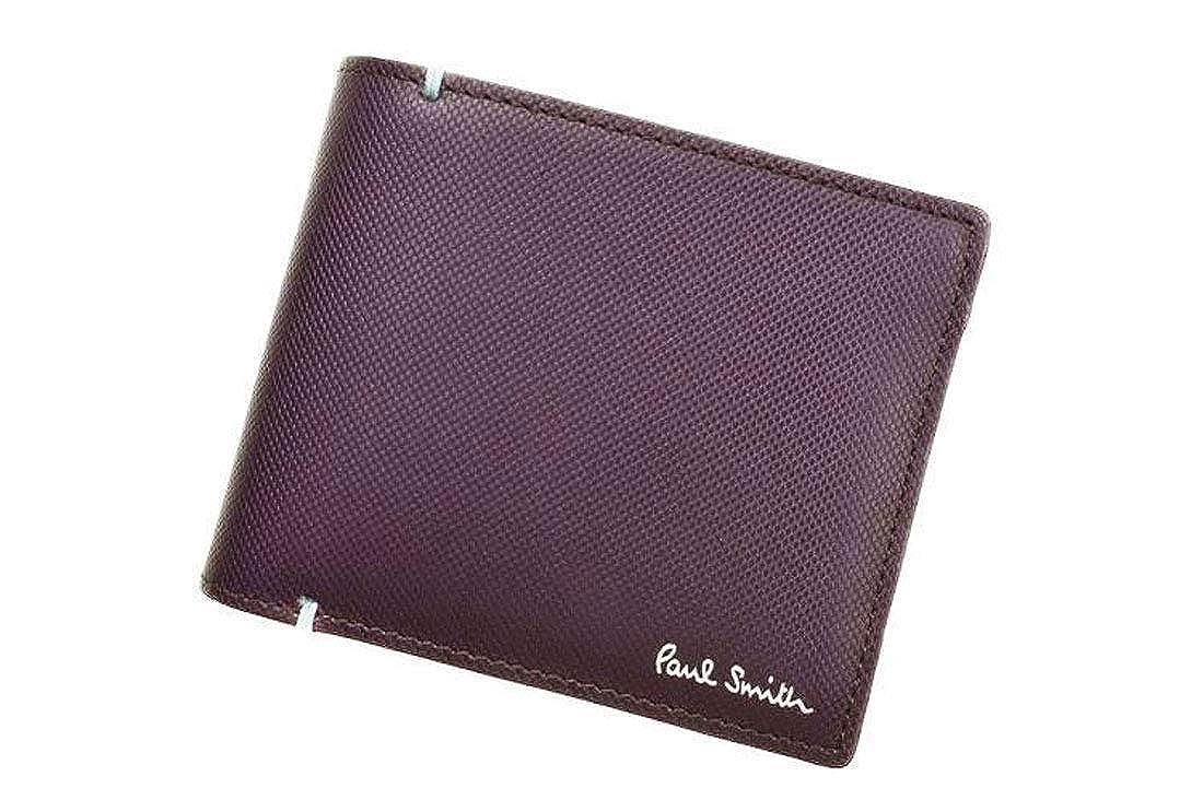 [ポールスミス] 財布 二つ折り メンズ 牛革 レザー コントラストカラー 専用箱付 パープル 本革 PSU936 B07QQVTV1F