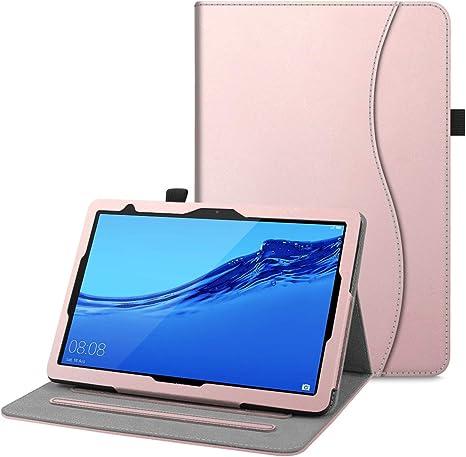 Multi-angli Slim Fit Folio Smart Pieghevole Cover Protettiva con Tasca delle Carte per/Huawei MediaPad T5 10.1 Pollici 2018 FINTIE Custodia Cover per Huawei MediaPad T5 10 - Nero