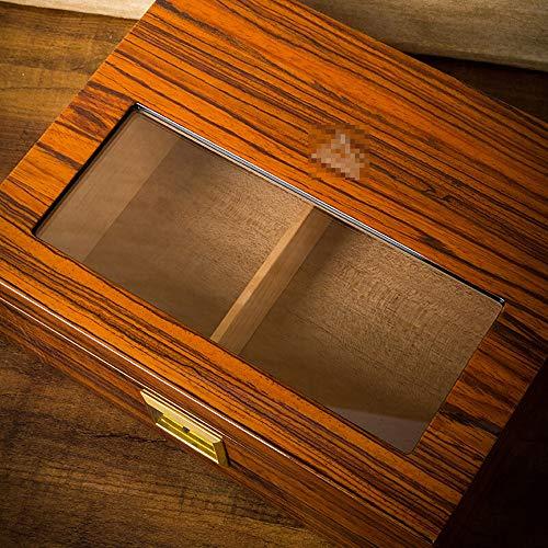 ZJ- Humidor Cigar Box - Cigar Box Imported Cedar Wood Transparent Window humidor && (Color : B) ()