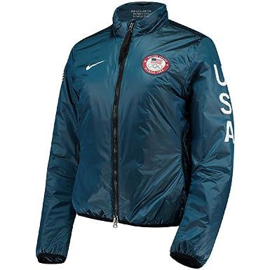 62c493a2b56f Amazon.com  NIKE NikeLab Women s Blue Team USA Full-Zip Midlayer ...