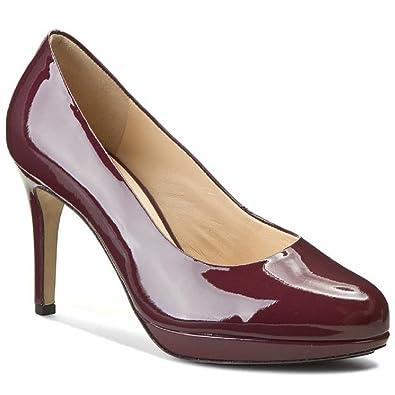 Women's HOGL 108004 Smart High Heel Closed Pump Leather Court Shoes HO 33 (4.5 UK, Burgundy Patent (85000) Port Wine)