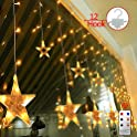 Yinuo Light Star 8 Modes 7.2Ft 108 LEDs Curtain Lights