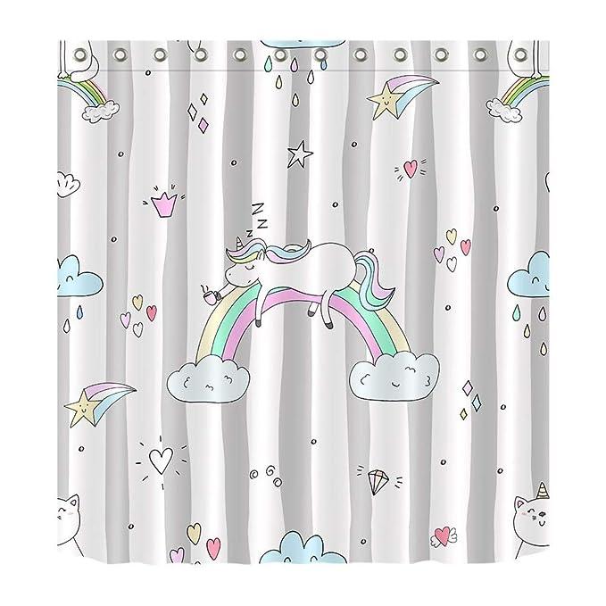 Cortina de bañ de Unicornio