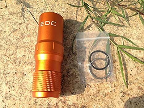 Waterproof Pill//Match Case SZHOWORLD CNC Machined Aluminum EDC Survival Capsule Seal Bottle