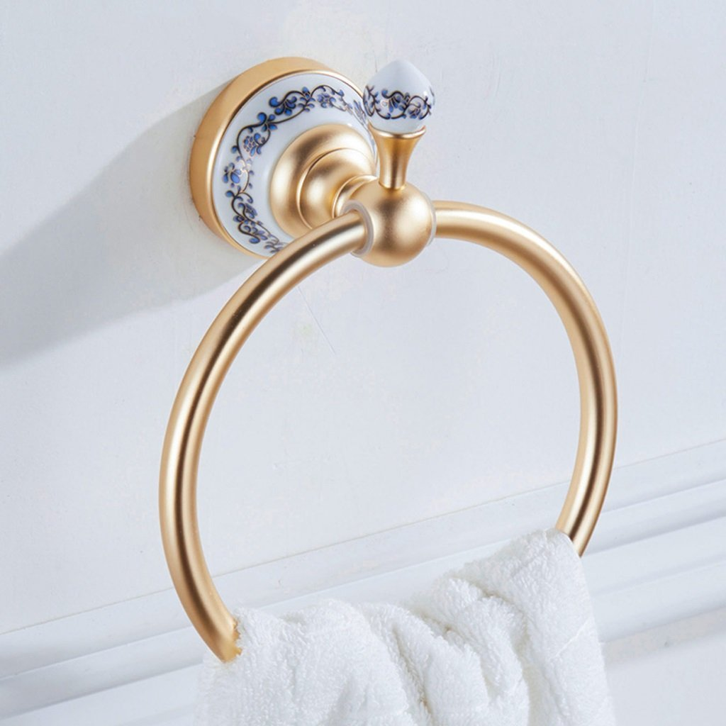 Edge To European-style Space Aluminum Towel Ring Towel Ring Bath Towel Ring Does Not Rust(17080mm)
