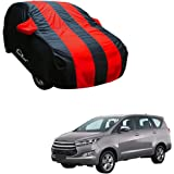 Autofurnish Red Stripe Car Body Cover Compatible with Toyota InNova Crysta - Arc Blue