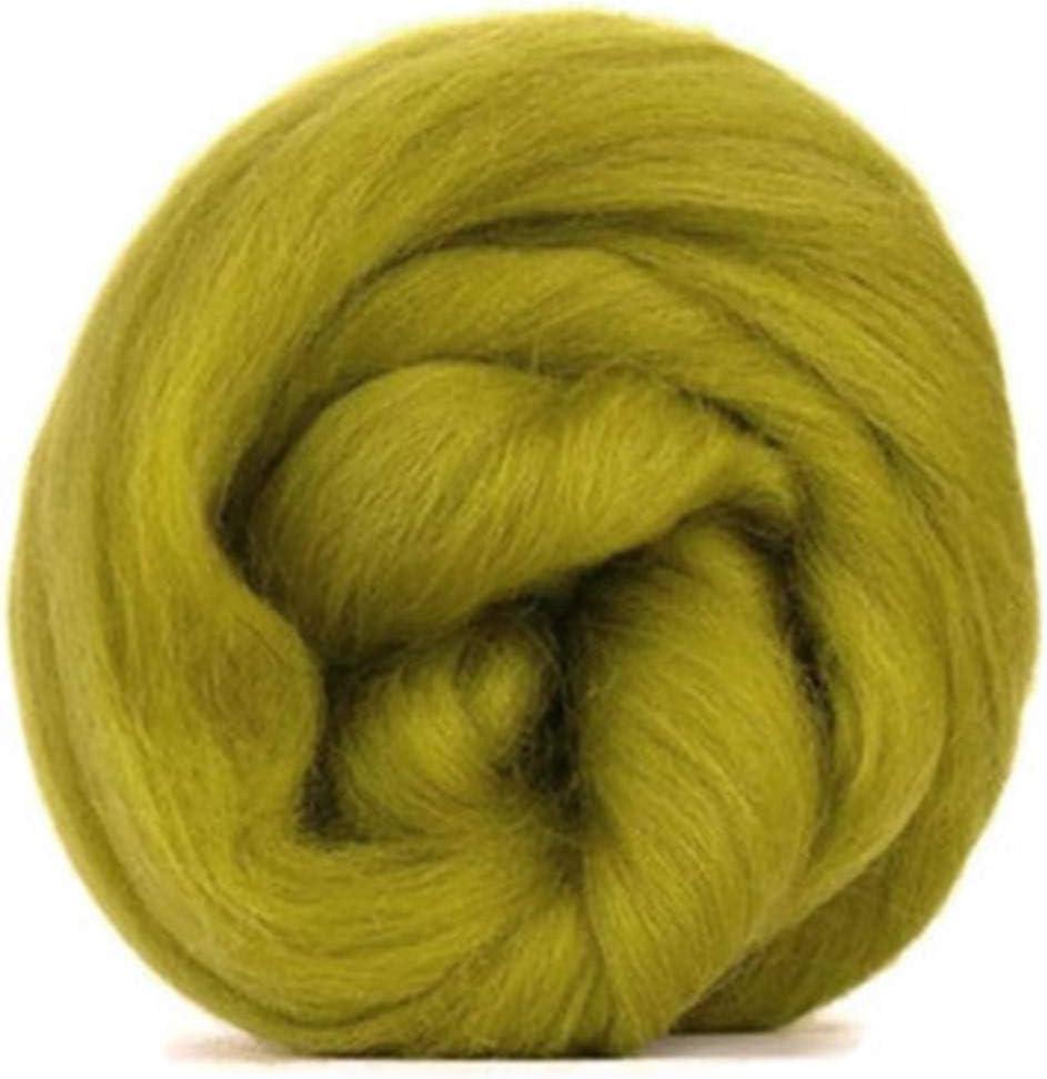 Lana de merino verde oliva/Tops – 50 gm. Ideal para mojado/de ...