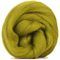 Lana de merino verde oliva/Tops–50gm. Ideal para mojado/de