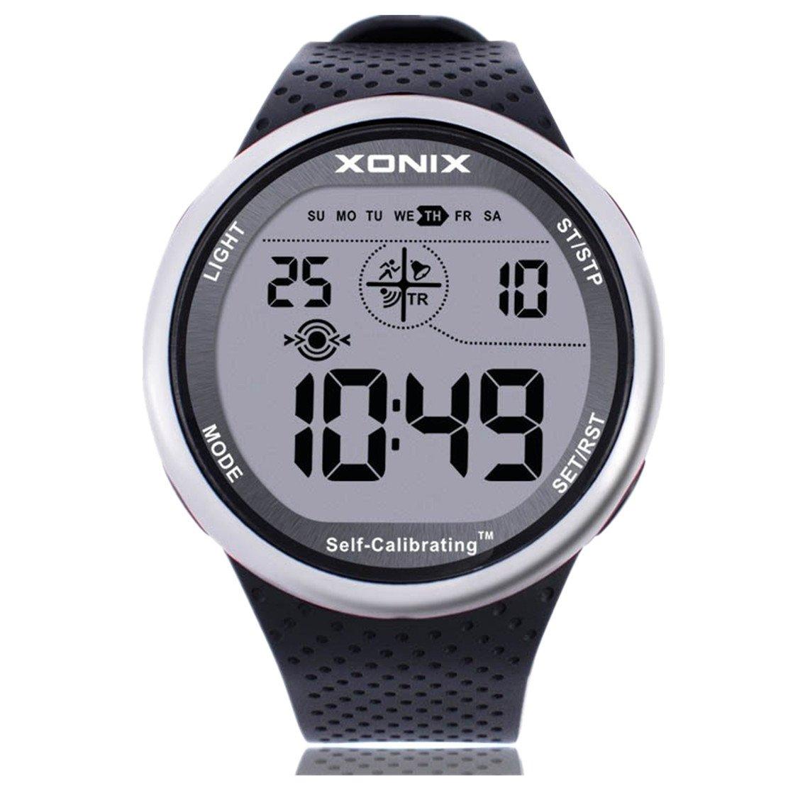 Para la práctica de deportes reloj digital autoadhesivo calibrarse wr100 m multifuncional exterior reloj de pulsera: Amazon.es: Relojes