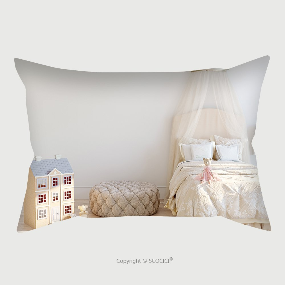 Custom Satin Pillowcase Protector Mock Up Wall In Child Room Interior Interior Scandinavian Style D Rendering D Illustration 544539052 Pillow Case Covers Decorative