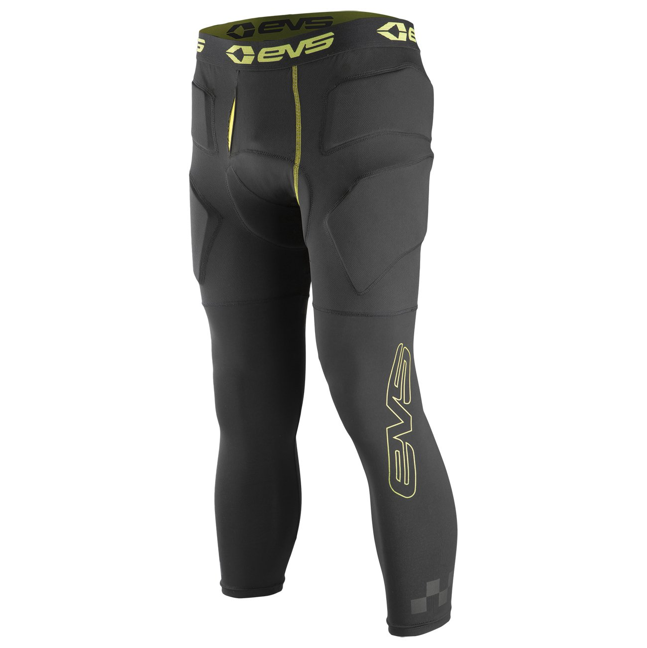 EVS Sports Unisex-Adult Tug Bottom Impact 3/4th Pants (Black/Hi-Viz, X-Large/XX-Large) by EVS Sports (Image #1)