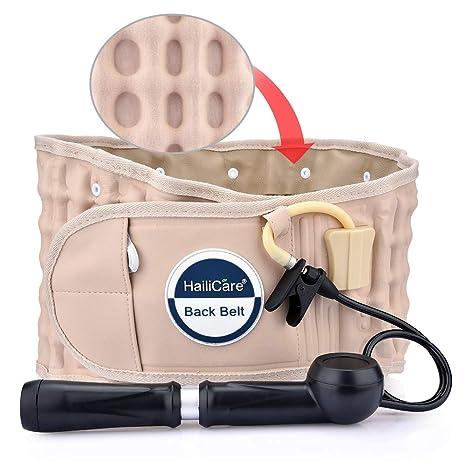 HailiCare Physio Cinturón de Descompresión Lumbar Soporte Espalda Masaje Espinal Tracción Inflable para Alivio del Dolor de Espalda para 29 - 49 ...