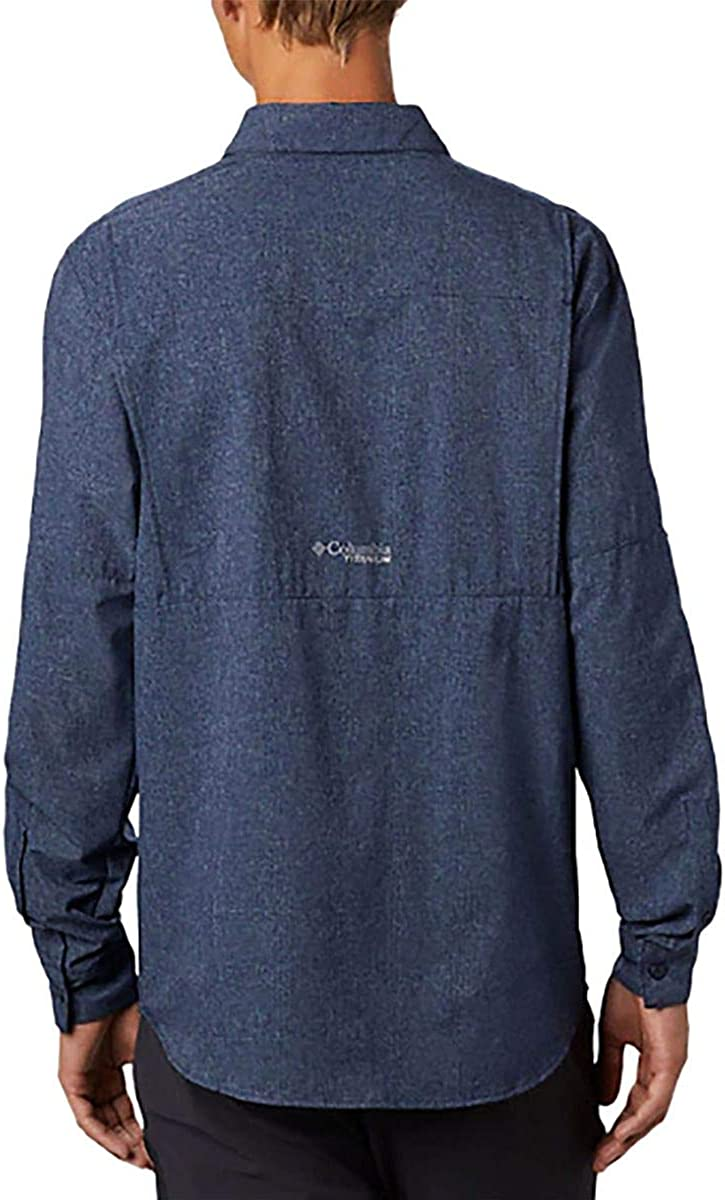 Columbia Men's Irico Langärmliges Hemd Long Sleeve Shirt Collegiate Navy