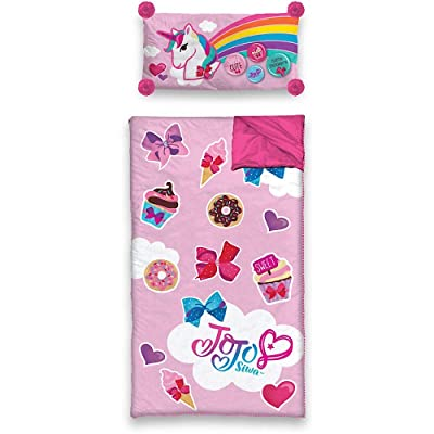 Nickelodeon JoJo Siwa Sleeping Bag and Pillow Slumber Set: Sports & Outdoors
