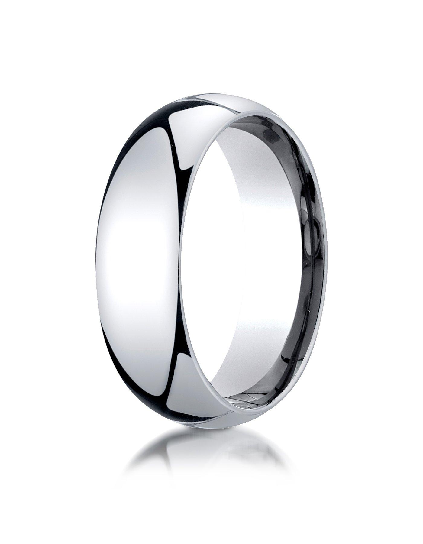 Womens Platinum, 7mm Slim Profile Comfort-Fit Ring (sz 7)