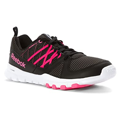 New Reebok Women's Sublite Train RS 2.0 L Training Shoe Gravel/Black/Pink/