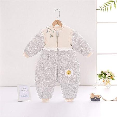 Jinzsnk Bolsa de Dormir Bebé Saco de Dormir con los pies algodón usable Manta niños pequeños Pijamas for el Invierno para bebé (Color : Gray, Size : M): Amazon.es: Hogar