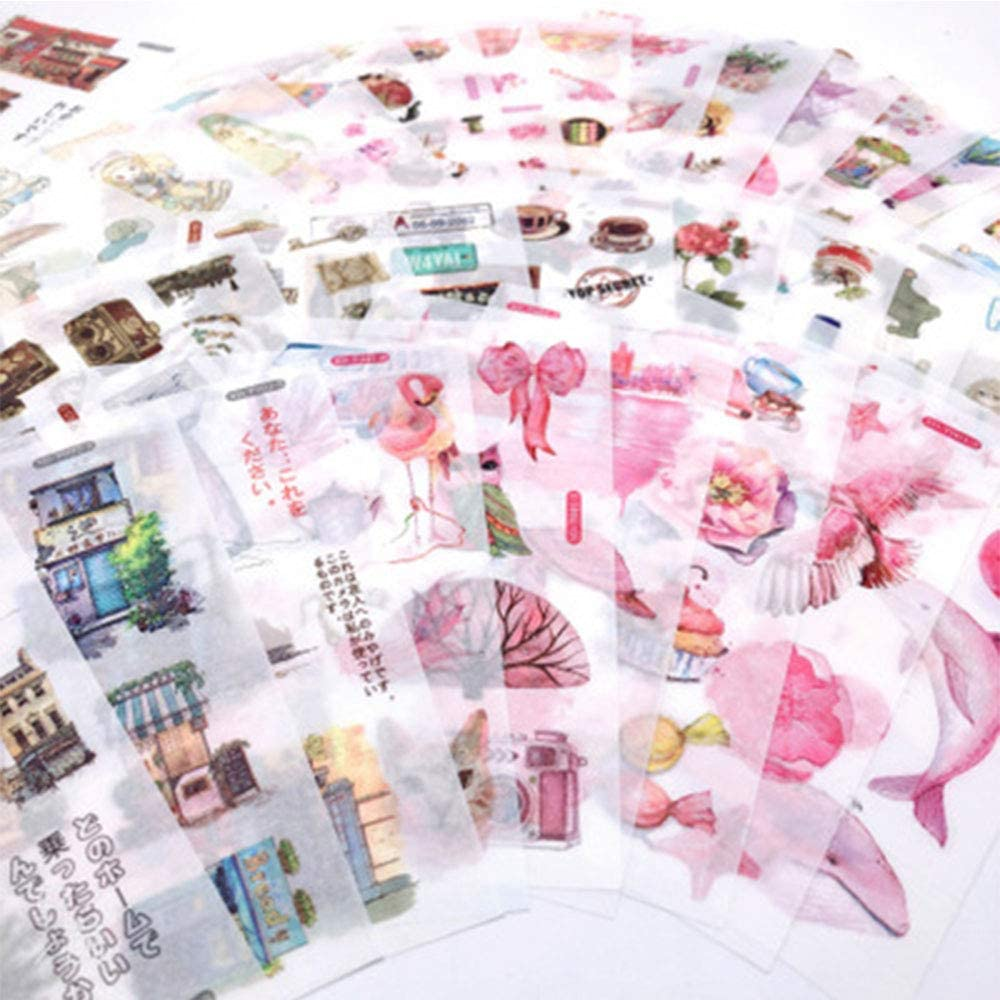 18Hojas Pegatinas Scrapbooking Flores Plantas Animales Stickers Bullet Journal para DIY Manualidades Decoraci/ón Diario /Álbumes de Recortes Calendarios Tarjetas de Felicitaci/ón Regalos Pegatinas