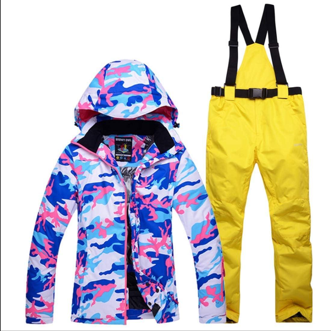 Makecny 女性のマウンテンスキージャケット防水防風暖かい冬のレインコート (色 : 02, サイズ : L)  Large