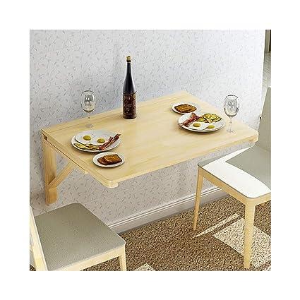 Escritorio de madera maciza para ordenador de pared, mesa de ...