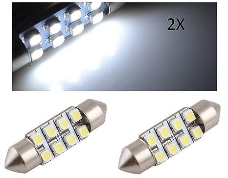TecnoStore® - Juego de 2 bombillas LED SMD 3528 canbus, para matrícula o habitáculo