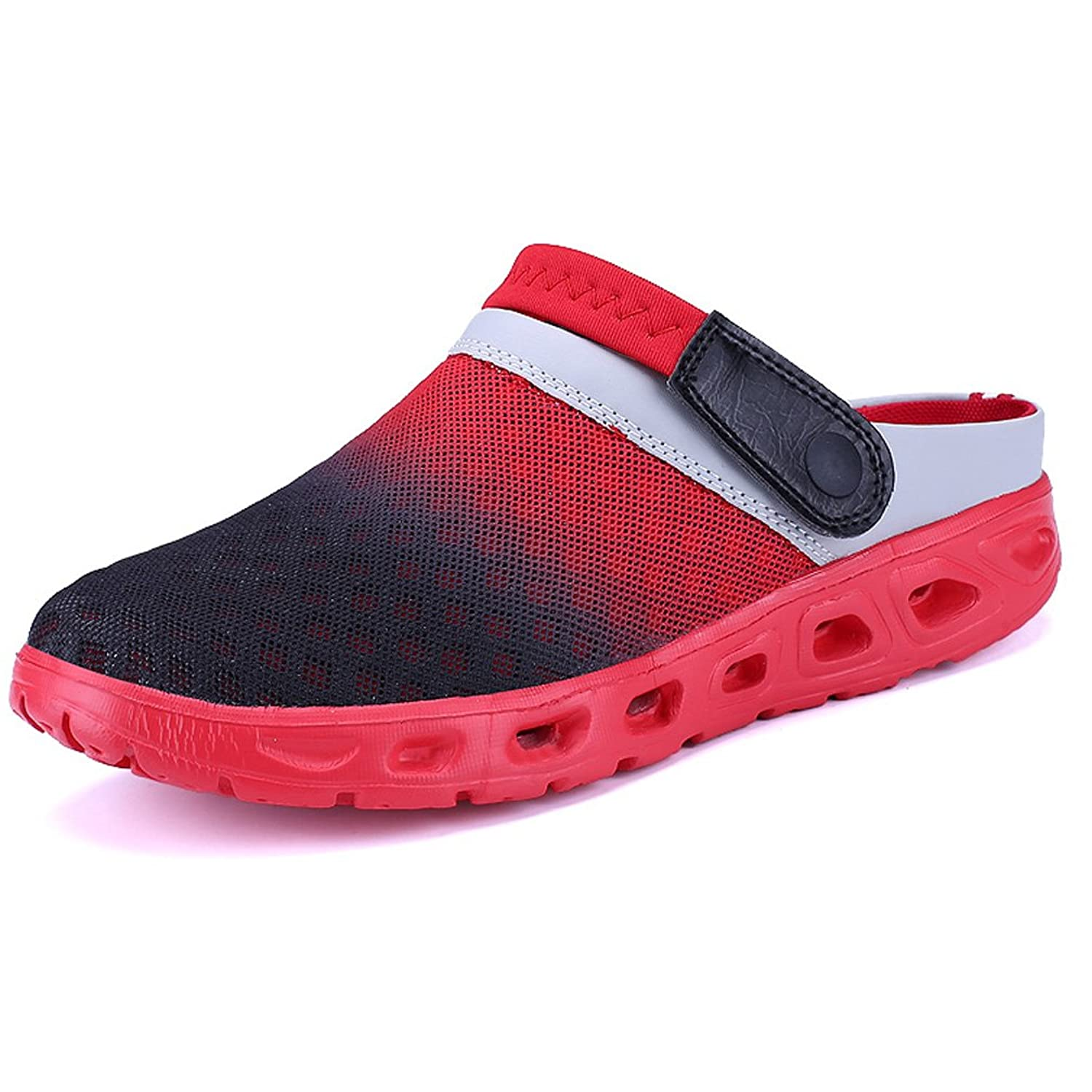 15317003d03a Hishoes Men s Mesh Slippers Beach Sandals Women s Lightweight Sandals  Breathable Water Shoes Outdoor Walking Garden Clog Shoes