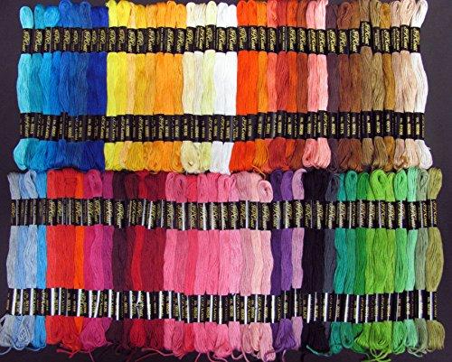 (J & P Coats Cotton Embriodery Cross Stitch Floss Thread 105 skeins)