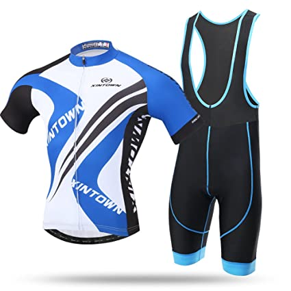 Pro Team Men Cycling Jersey Summer Bike Clothing Set Short Sleeve Quick-Dry Suit