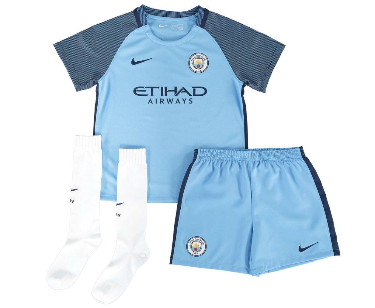 online retailer cc403 a176d Nike MCFC LK HM KIT - Kit Manchester City line for Unisex, Size