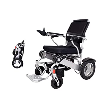 Electric Wheelchair Folding Lightweight 60 lbs w/Battery Durable Supports 360 lbs Aircraft Grade Aluminum
