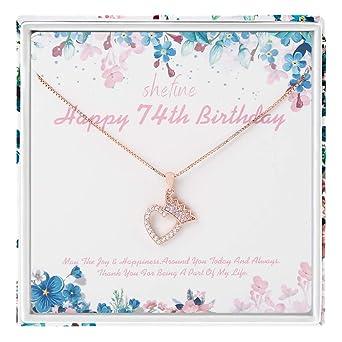 Regalo de 74 cumpleaños para mujer - Corona de plata de ley ...