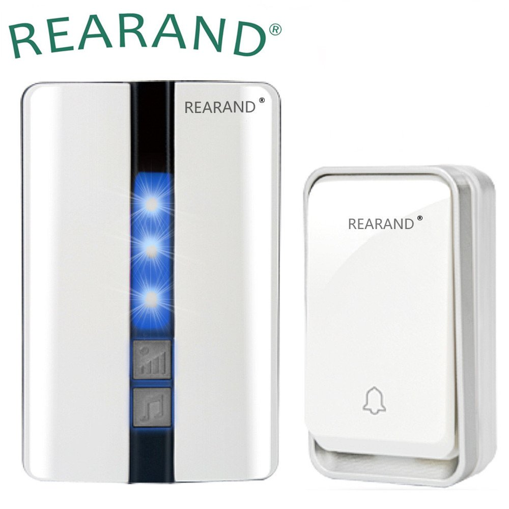 REARAND Wireless Doorbell Chime Waterproof Door Bell Kit,Operating at Over 450 Feet Range with Over 50 Chimes, No Batteries Required for Transmitter &Receiver