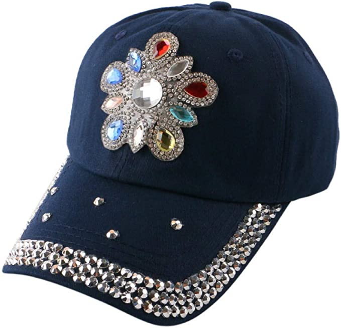 YUANBAOG Flor Floral de Moda Decorada Gorra Snap Back Sombreros ...