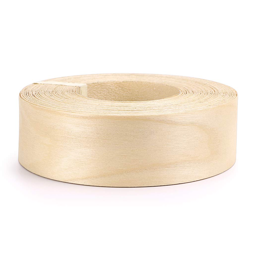 Skelang 2'' X 50' Roll Birch Wood Veneer Edgebanding Preglued Iron-On with Hot Melt Adhesive Edgebanding Flexible Wood Tape by Skelang