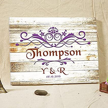 Amazon.com: Libro de invitados rústico para bodas, libro de ...