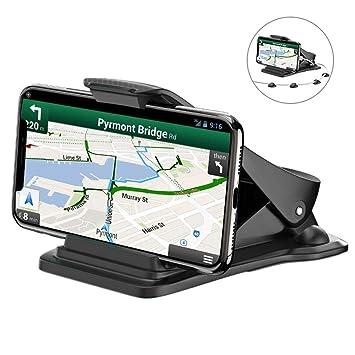 Bovon Soporte Móvil Coche, Soporte Teléfono y GPS para Ahorrar Espacio con 5 Clips para el ...