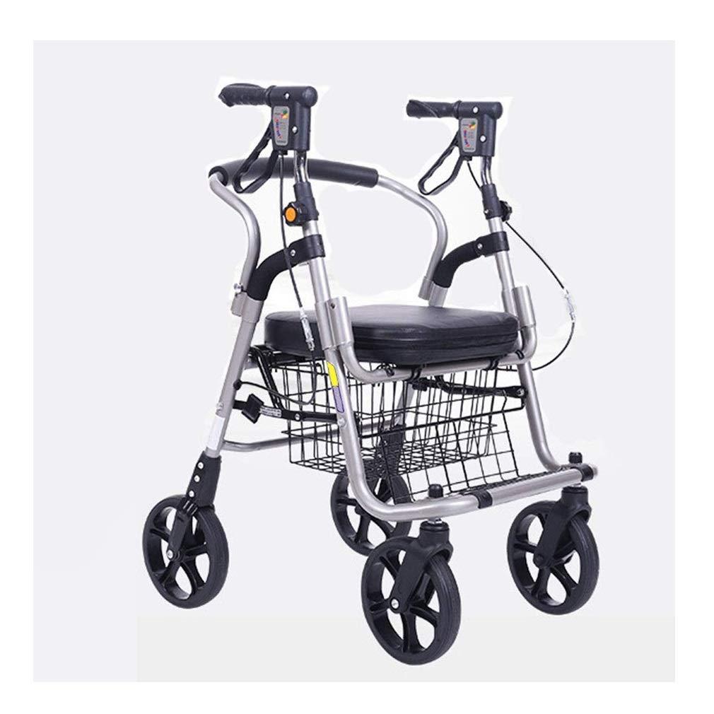 Youth Rollator Walker,Lightweight Folding Aluminum Mobility Rollator Walker Auxiliary Walking Safety Walker