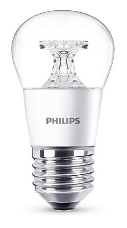Philips Bombilla Gota Esférica LED, 5,5 W/40 W, Casquillo E27