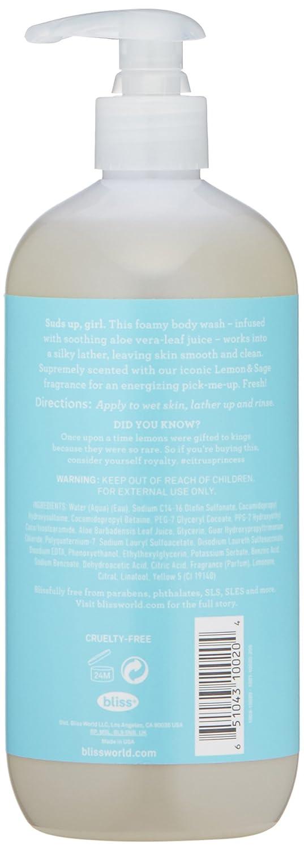 Amazon.com : Bliss Lemon & Sage Soapy Suds Body Wash | Gentle ...
