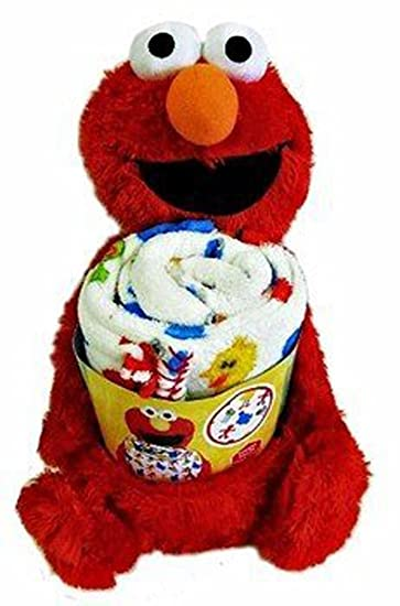 Amazon.com  Sesame Street Elmo Fleece Throw Blanket and Buddy Set  Baby 8c36ee3bd